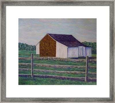 Mcphersons Barn Gettysburg Framed Print by Joann Renner