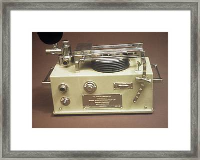 Medical Ventilator Framed Print by Science Photo Library