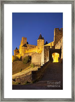 Medieval Carcassonne Framed Print by Brian Jannsen