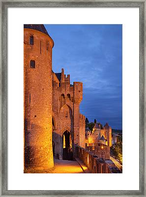 Medieval Town Of Carcassonne Framed Print by Brian Jannsen