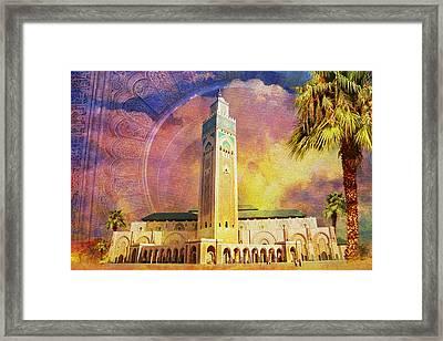 Medina Of Marakkesh Framed Print by Catf
