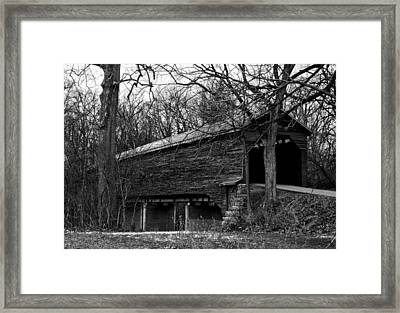 Meems Bottom Covered Bridge Framed Print by David Lester