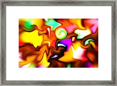 Melting Colors Framed Print by Stefan Kuhn