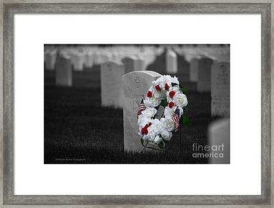 Memorial Day Remembering Those Who Gave The Ultimate Sacrifice Framed Print by Wayne Moran