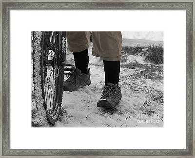 Men Who Ride Framed Print by Steven  Digman