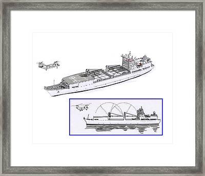 Merchant Marine Conceptual Drawing Framed Print by Jack Pumphrey
