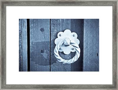 Metal Knocker Framed Print by Tom Gowanlock