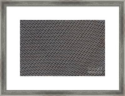 Metal Meshwork Framed Print by Dirk Wiersma