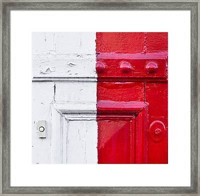 Metal Texture Framed Print by Tom Gowanlock