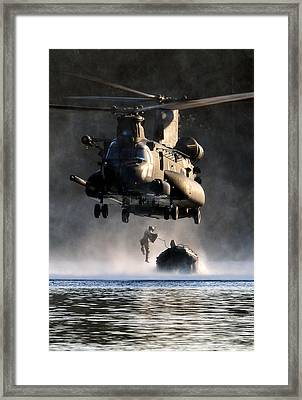 Mh-47 Chinook Helicopter Framed Print by Celestial Images