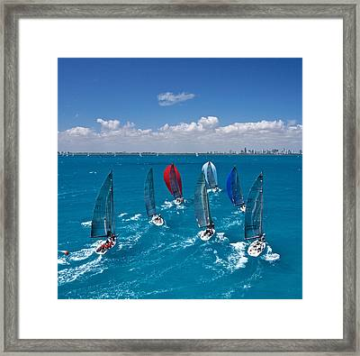 Miami Horizon Framed Print by Steven Lapkin