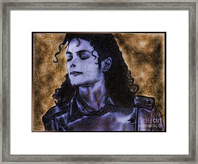 Michael Jackson Framed Print by Betta Artusi