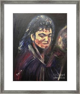 'michael Jackson' Framed Print by Keya Majmundar