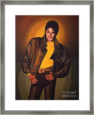 Michael Jackson Framed Print by Paul Meijering