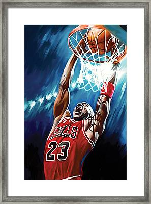 Michael Jordan Artwork Framed Print by Sheraz A