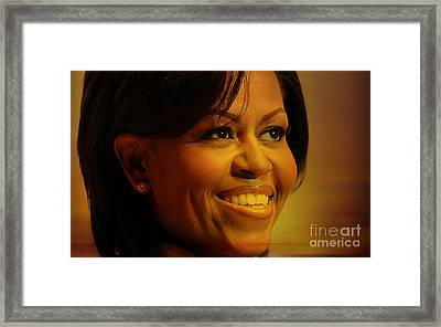 Michelle Obama Framed Print by Marvin Blaine