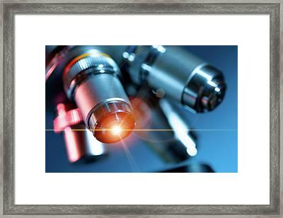 Microscope Framed Print by Wladimir Bulgar