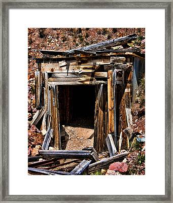 Midwest Mine Shaft Framed Print by Lana Trussell