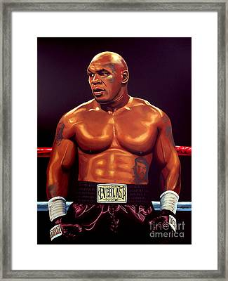 Mike Tyson Framed Print by Paul Meijering
