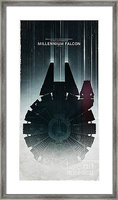 Millennium Falcon Framed Print by Baltzgar