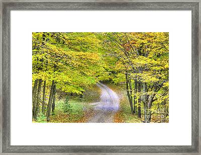 Miller Hill Road In Fall Framed Print by Twenty Two North Photography