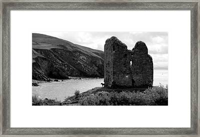 Minard Castle In Kerry Framed Print by Barbara Walsh