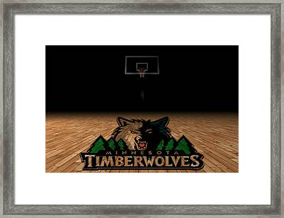 Minnesota Timberwolves Framed Print by Joe Hamilton
