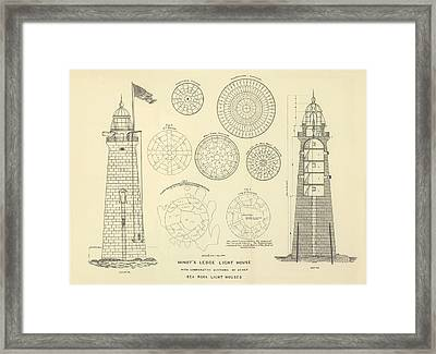 Minots Ledge Lighthouse Framed Print by Jerry McElroy - Public Domain Image