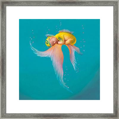 Mira As A Tropical Fish Framed Print by Anne Geddes