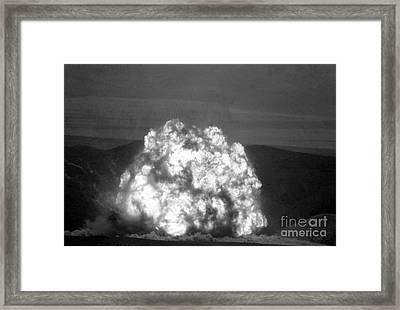 Missile Being Destroyed In Kazakhstan Framed Print by RIA Novosti