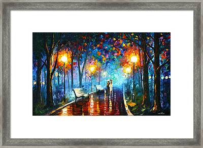Misty Mood Framed Print by Leonid Afremov