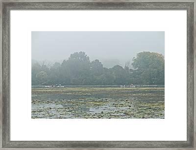 Misty Morning  Framed Print by Peter Olsen