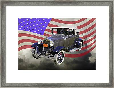 Model A Ford Roadster Convertible Antique Car Framed Print by Keith Webber Jr