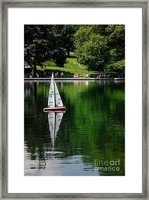 Model Boat Basin Central Park Framed Print by Amy Cicconi