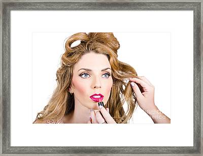 Model Makeup At Work Framed Print by Jorgo Photography - Wall Art Gallery