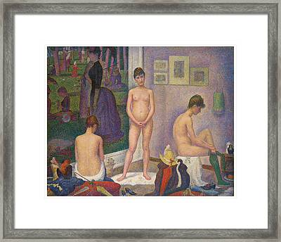 Models Framed Print by Georges Seurat