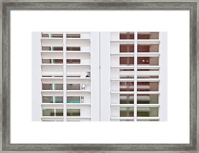 Modern Blind Framed Print by Tom Gowanlock
