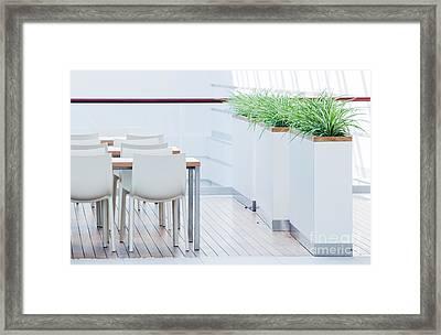 Modern Restaurant Interior Framed Print by Michal Bednarek