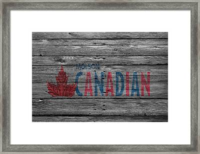 Molson Framed Print by Joe Hamilton