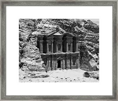 Monastery Of Petra Framed Print by Ernesto Cinquepalmi