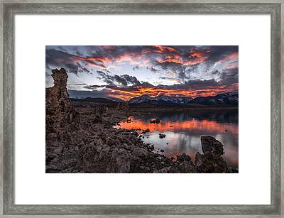 Mono Lake Sunset Framed Print by Cat Connor