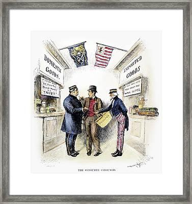 Monopoly And Tariffs, 1888 Framed Print by Granger