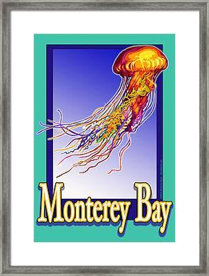Monterey Bay Jellyfish Framed Print by Michelle Scott
