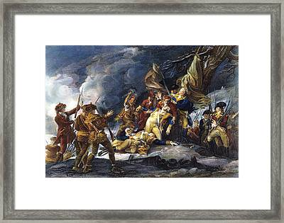 Montgomerys Death, 1775 Framed Print by Granger