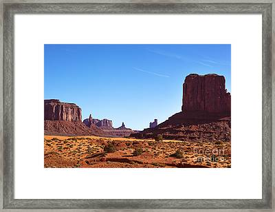 Monument Valley Landscape Framed Print by Jane Rix
