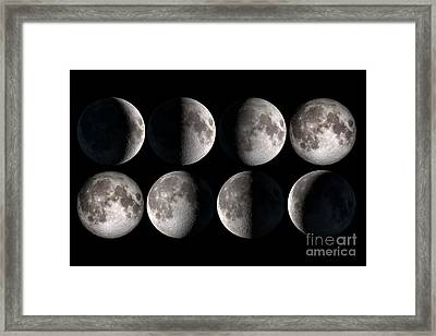 Moon Phases Framed Print by Delphimages Photo Creations