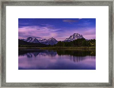 Moonlight Bend Framed Print by Chad Dutson