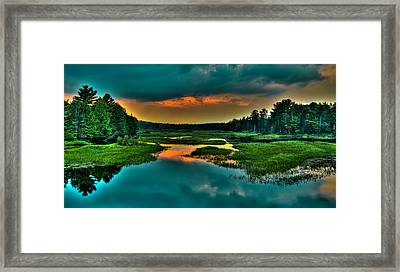Moose River Sunset Framed Print by David Patterson