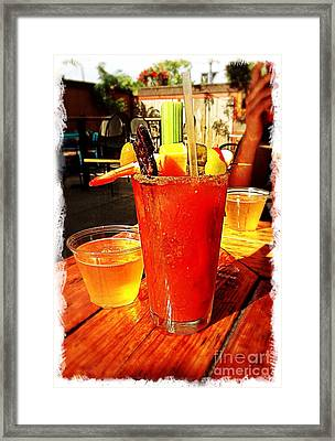 Morning Bloody Framed Print by Perry Webster