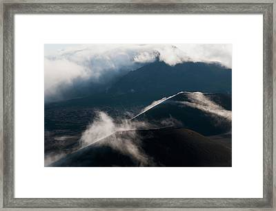 Morning Clouds Begin To Burn Framed Print by Robert L. Potts